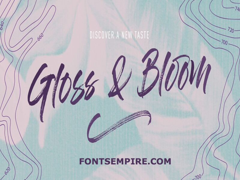 Gloss And Bloom Font Family Free Download