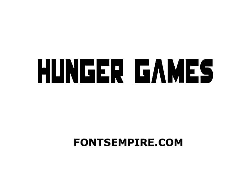 Hunger Games Font Family Free Download