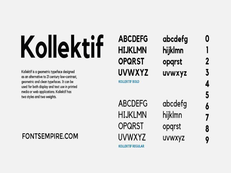 Kollektif Font Family Free Download