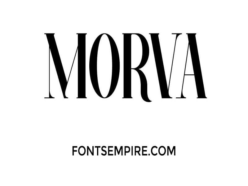 Morva Font Family Free Download