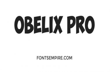 Obelix Pro Font Family Free Download