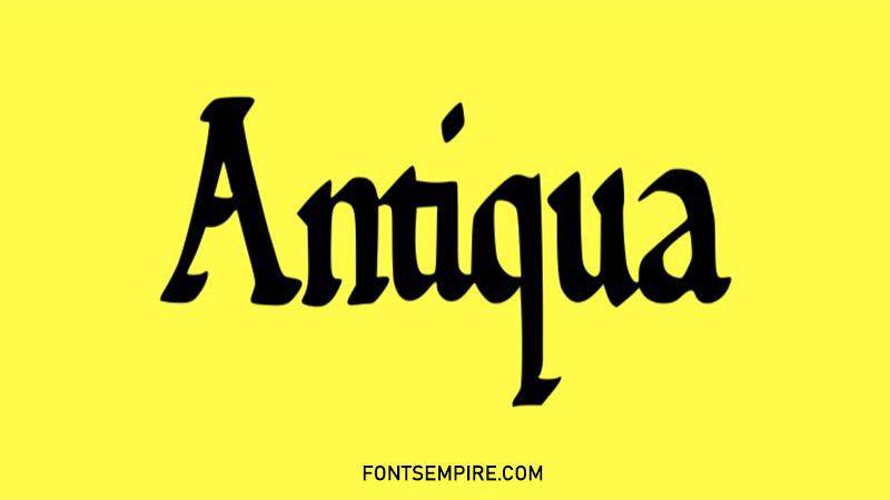 Antiqua Font Family Free Download