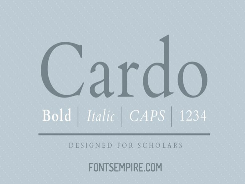 Cardo Font Family Free Download