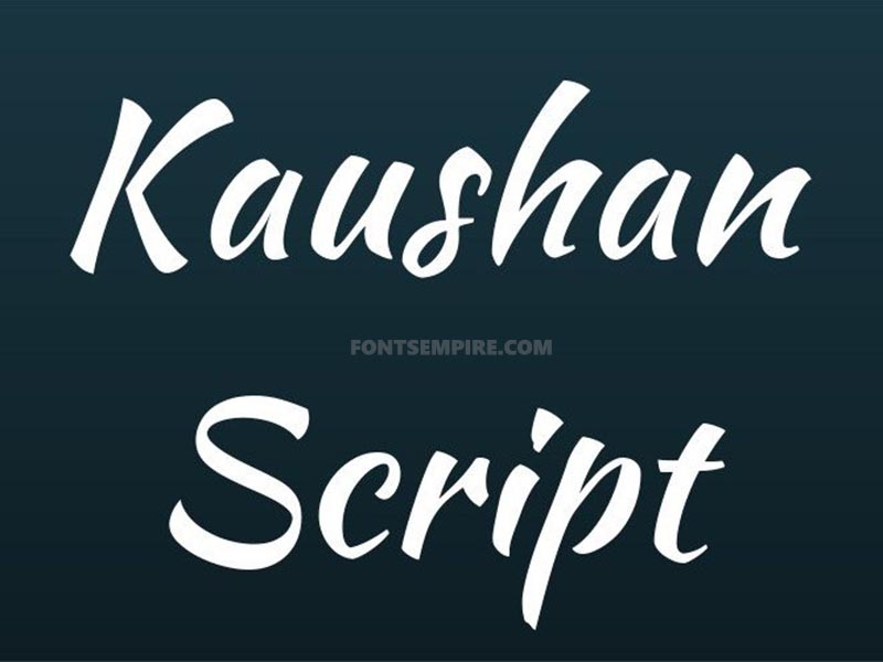 Kaushan Script Font Family Free Download