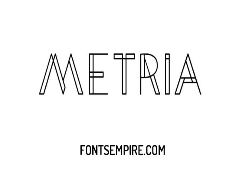 Metria Font Family Free Download