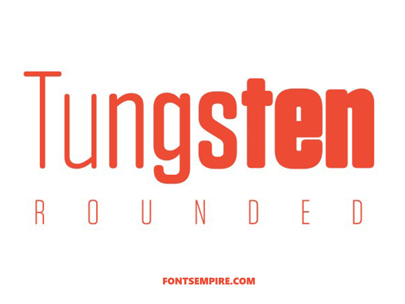 Tungsten Font Family Free Download