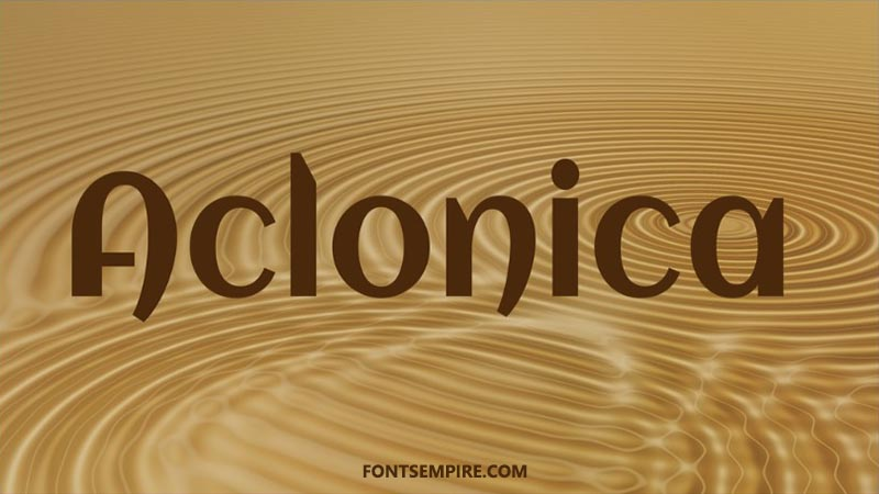 Aclonica Font Family Free Download
