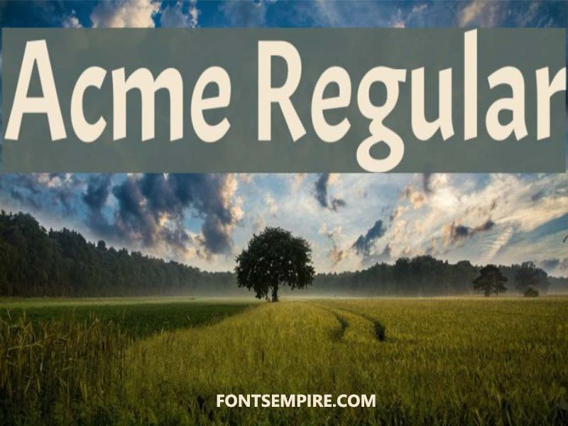 Acme Regular Font Family Free Download