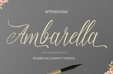 Ambarella Font Family Free Download