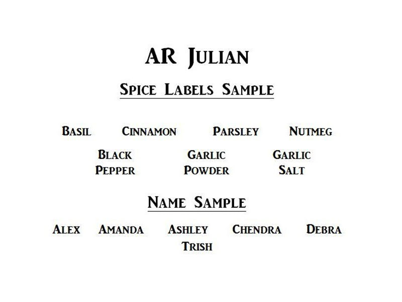 Ar Julian Font Family Download