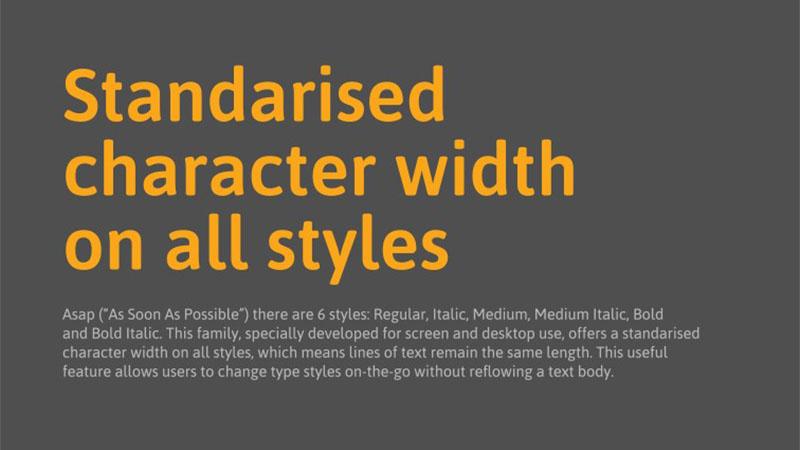 Asap Medium Font Family Download