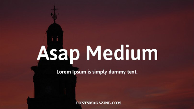 Asap Medium Font Family Free Download