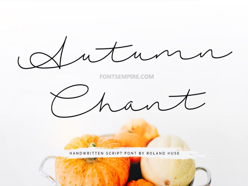 Autumn Chant Font Family Free Download