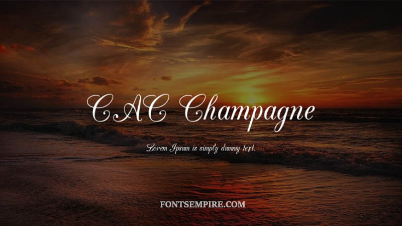 Cac Champagne Font Family Free Download