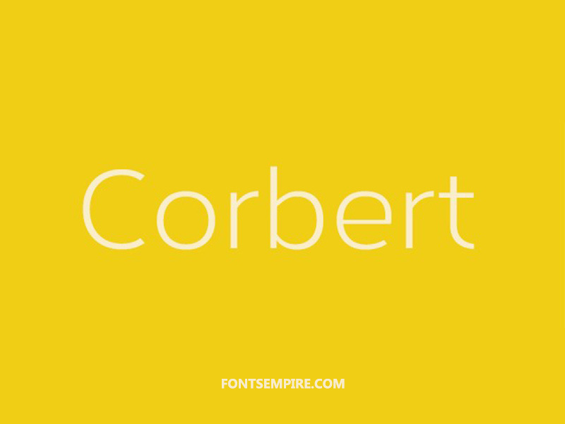 Corbert Font Family Free Download