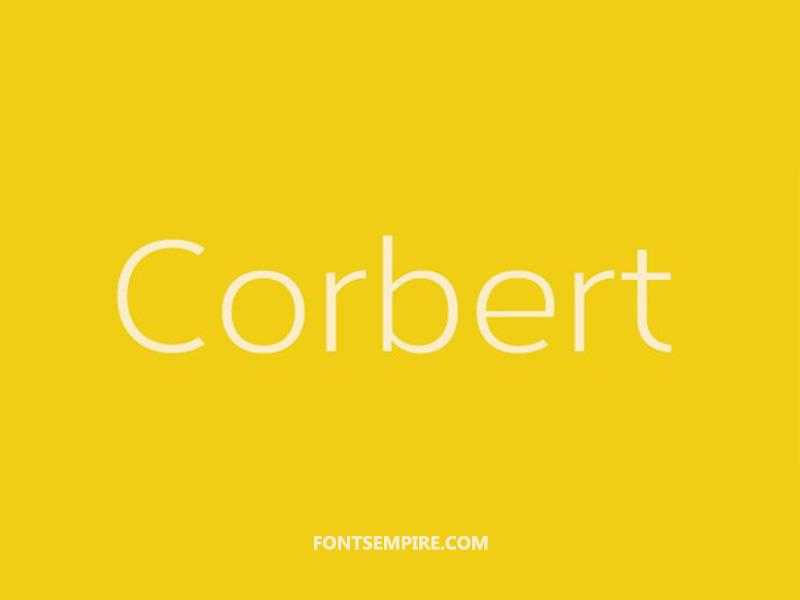 Corbert Font Family Free Download