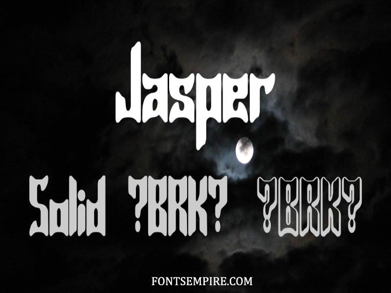 Jasper Font Family Free Download