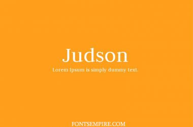 Judson Font Family Free Download