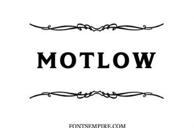 Motlow Font Family Free Download