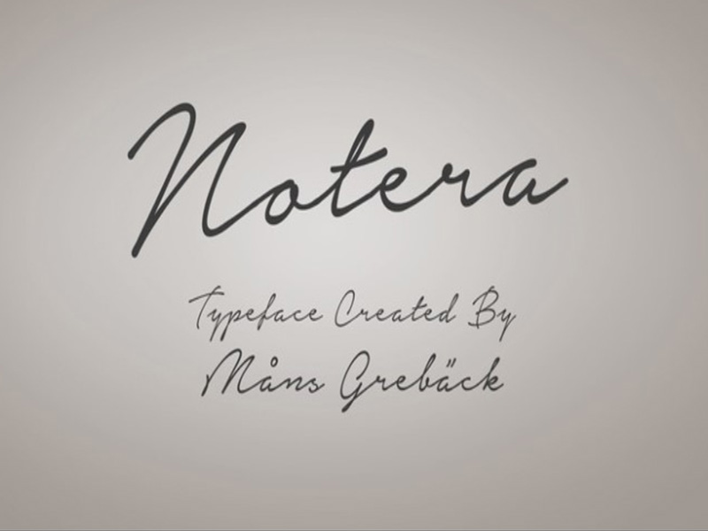 Notera Font Family Download