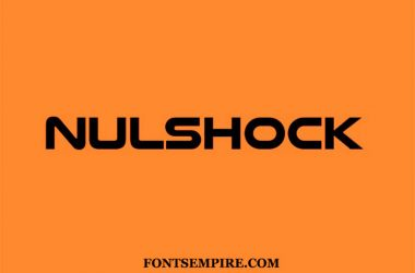 Nulshock Font Family Free Download