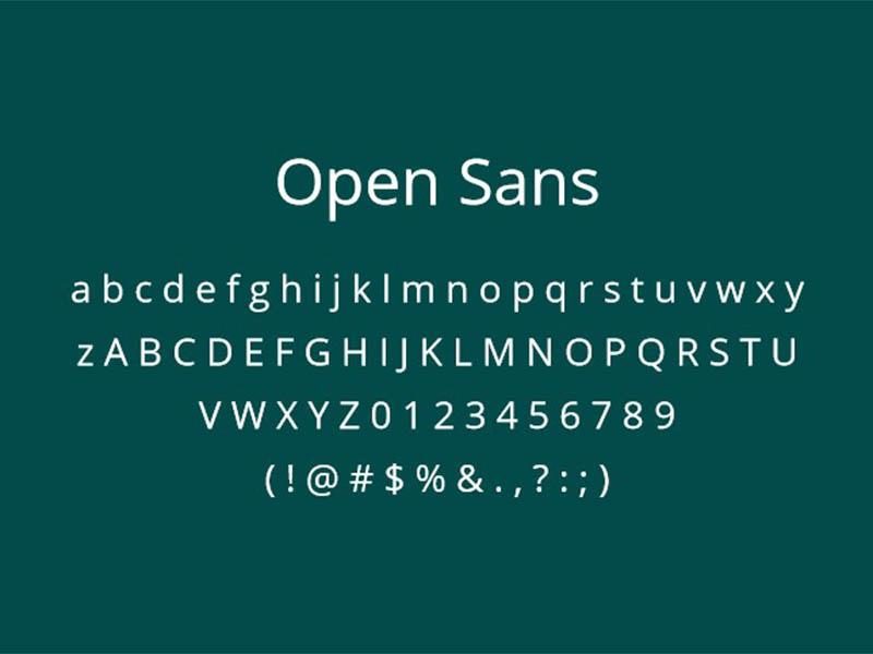 Open Sans Font Family Download