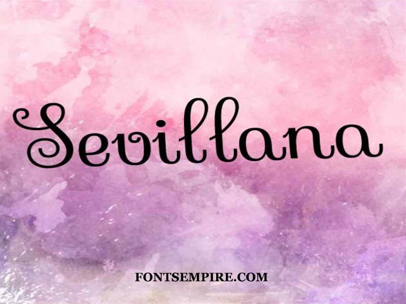 Sevillana Font Family Free Download