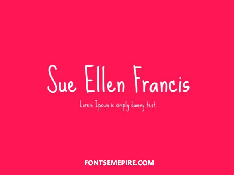 Sue Ellen Francisco Font Family Free Download