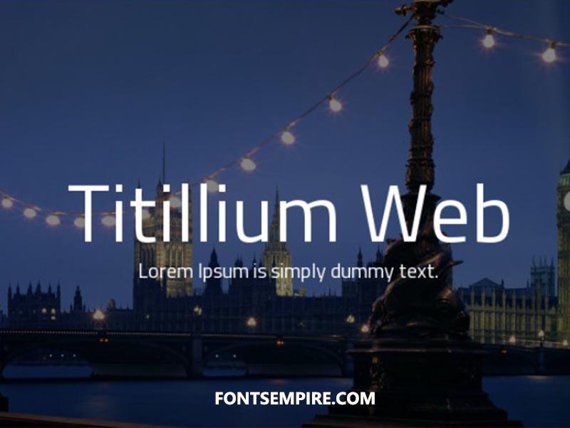 Titillium Web Font Family Free Download