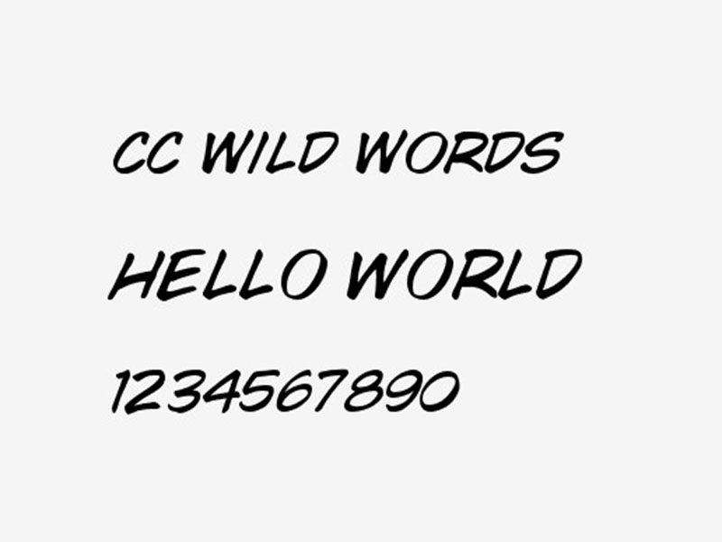Wild Words Font Free Download