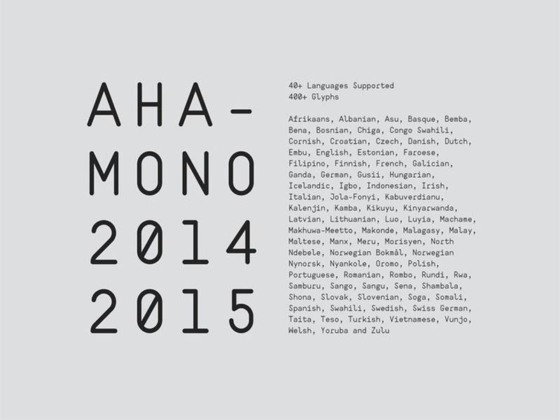 Ahamono Font Family Download