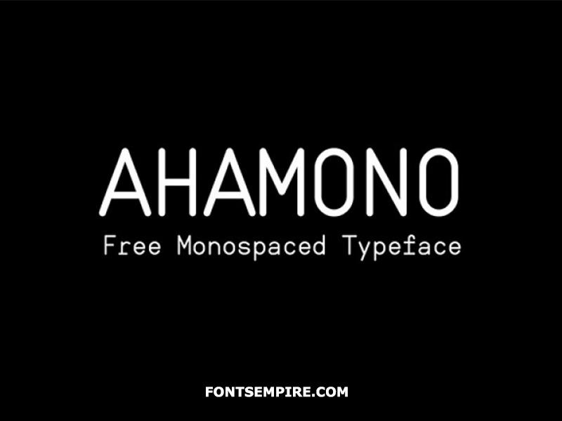 Ahamono Font Family Free Download