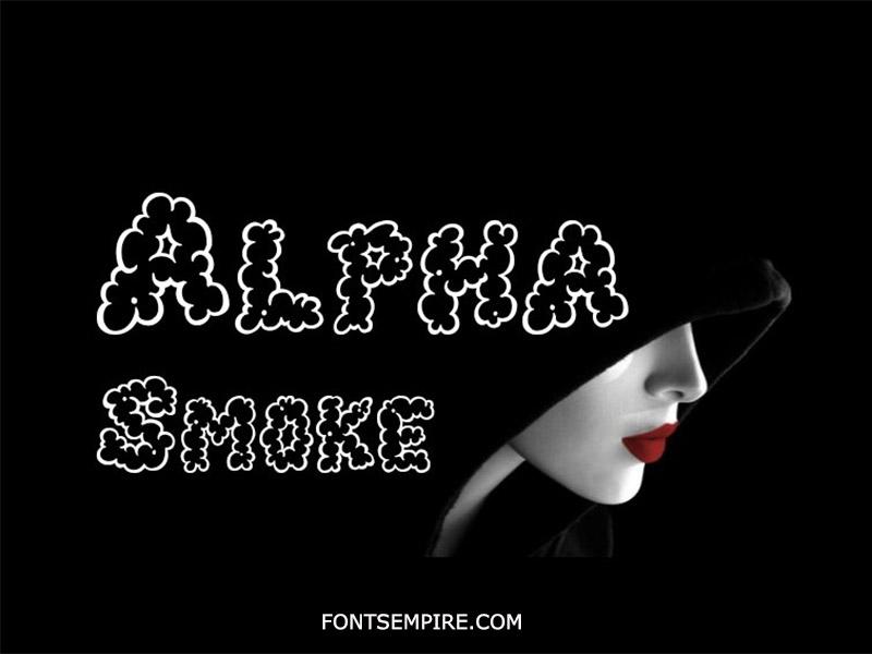 Alpha Smoke Font Family Free Download