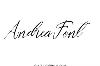 Andrea Font Family Free Download
