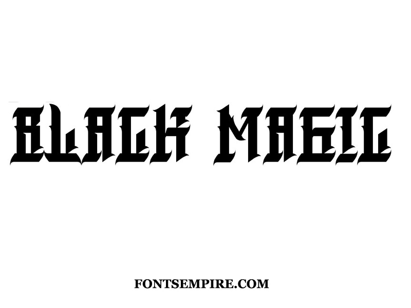 Black Magic Font Family Free Download