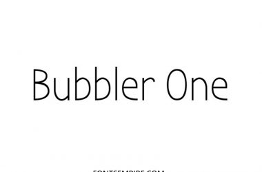 Bubbler Font Family Free Download