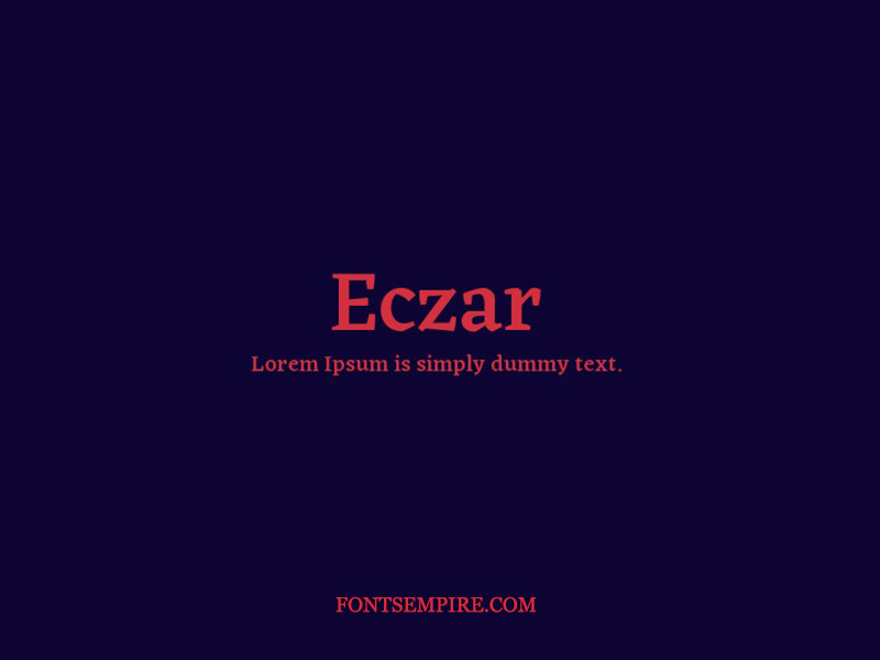 Eczar Font Family Free Download