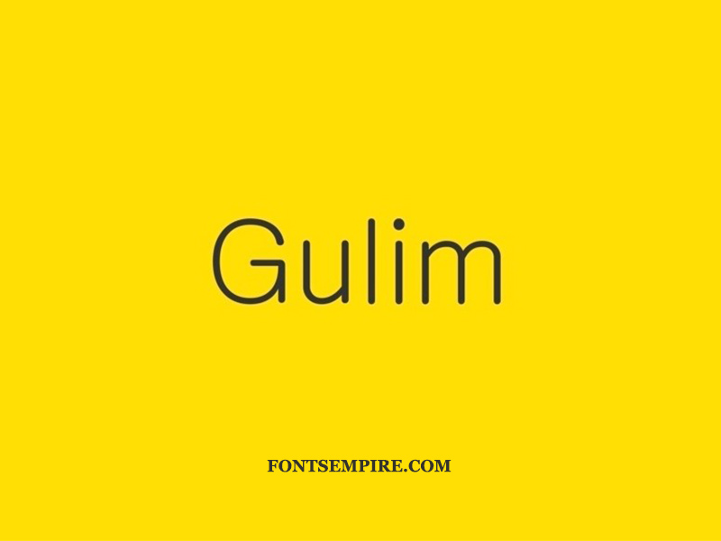 Gulim Font Family Free Download