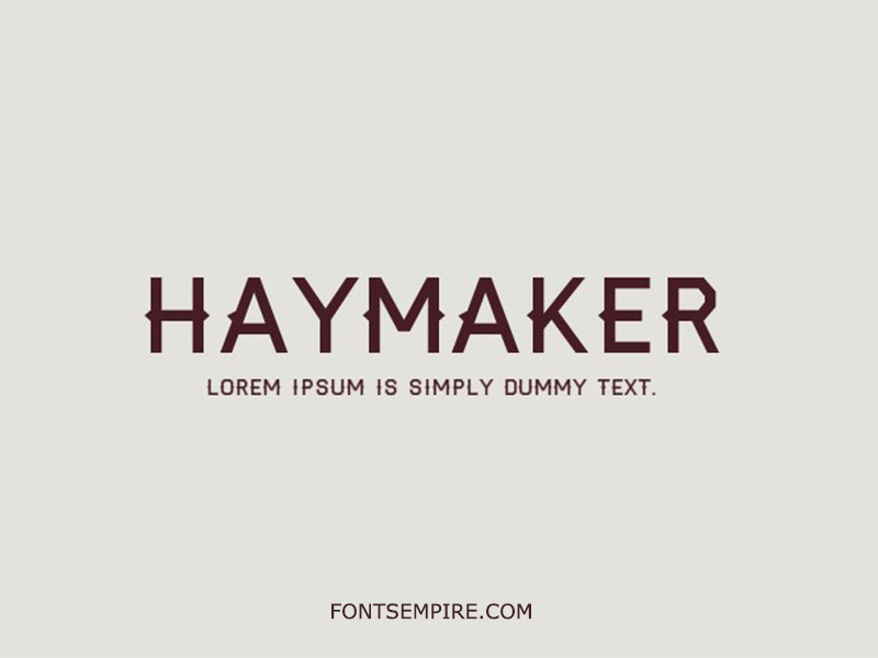 Haymaker Font Family Free Download
