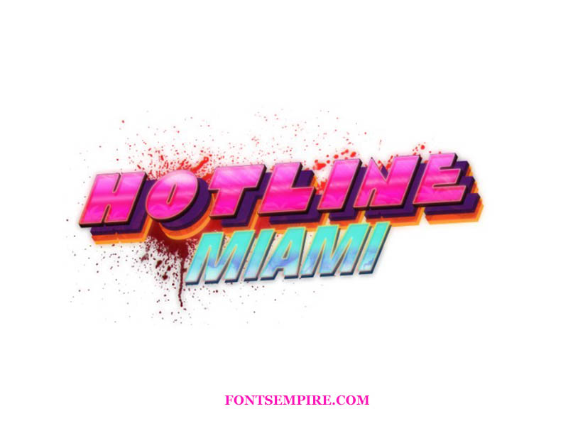 Hotline Miami Font Family Free Download