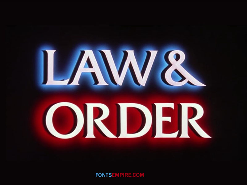Law And Order Font Family Free Download