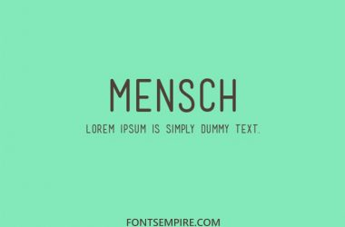 Mensch Font Family Free Download