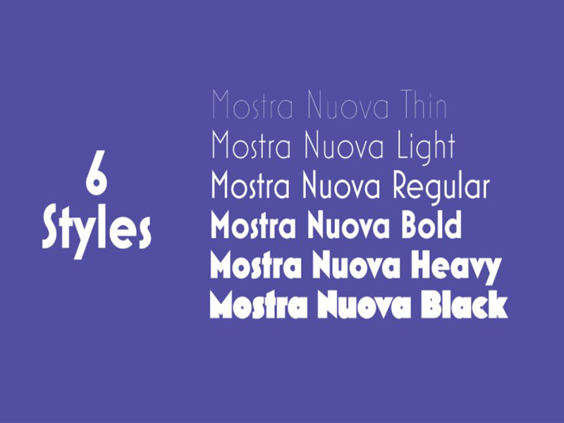 Mostra Nuova Font Family Download
