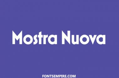 Mostra Nuova Font Family Free Download