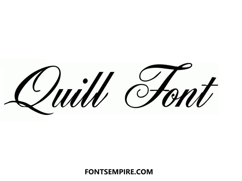 Quill Font Family Free Download