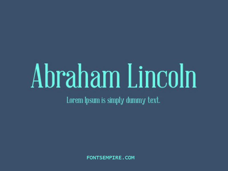 Abraham Lincoln Font Family Free Download