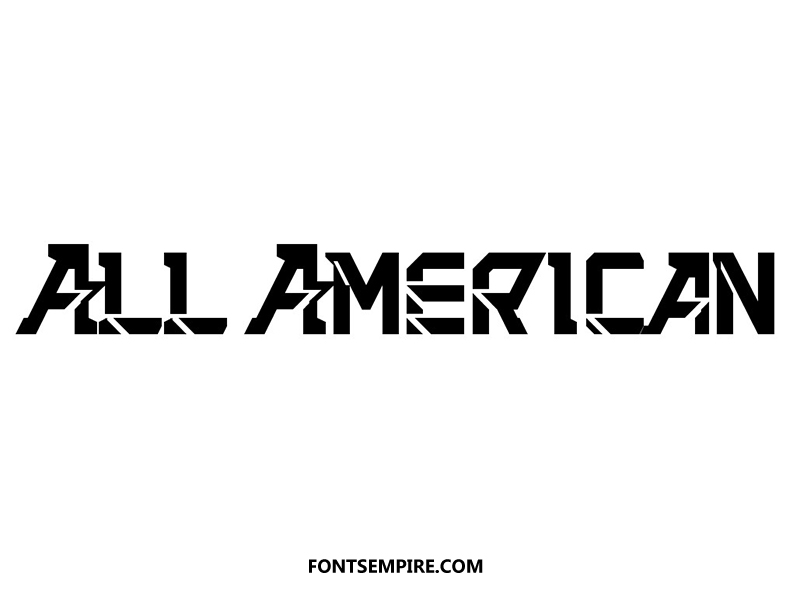 All American Font Family Free Download