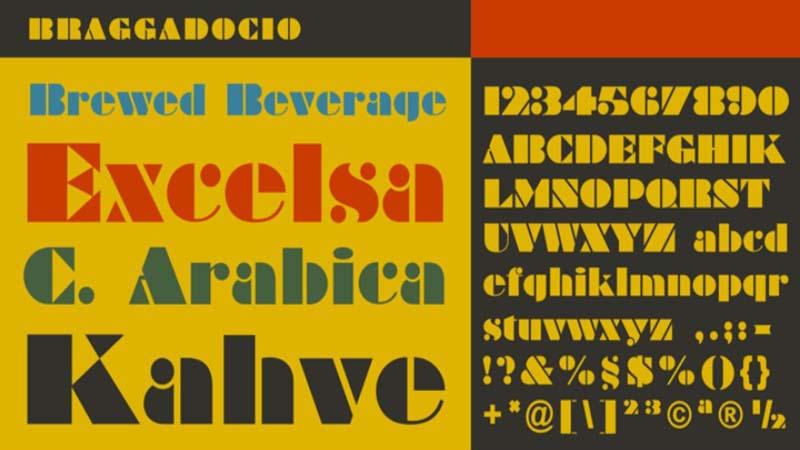 Braggadocio Font Family Download