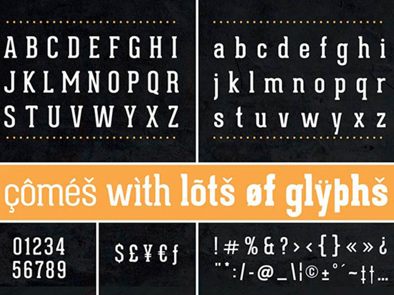 Geared Slab Font Family Download