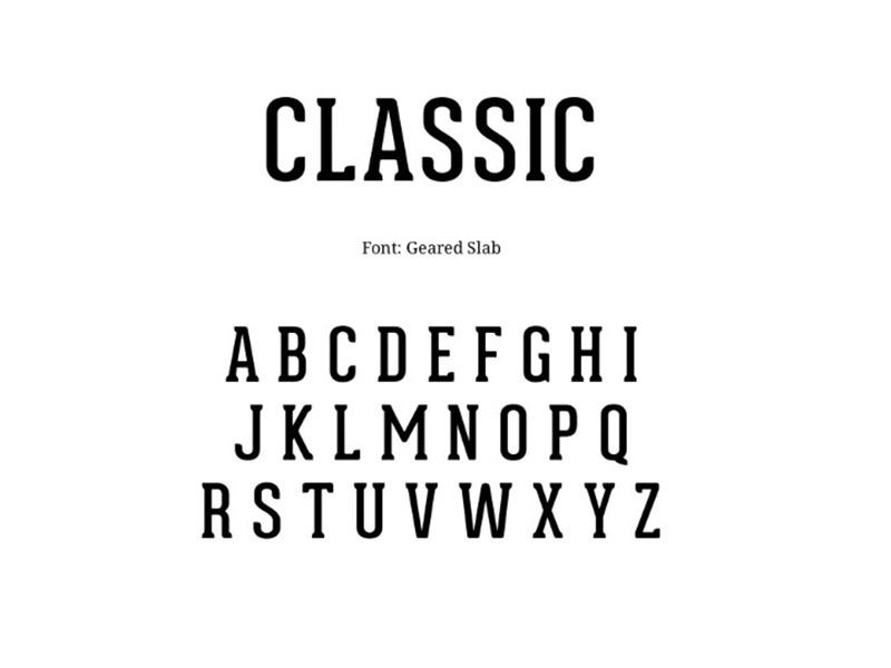 Geared Slab Font Free Download